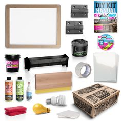 The DIY Silk Screen Printing Kit comes equipped with all of the essential tools needed to make great screen prints.  This kit includes table-top hinges engineered by pro screen printers used for at...