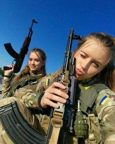 Ukrainian military girl