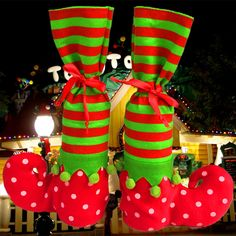 Fashion 1PC Christmas Socks Decor Elf Boots Candy Bags Party Home Decor Gifts Holders Present Filler-in Christmas from Home & Garden on Aliexpress.com   Alibaba Group