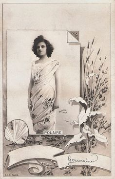https://flic.kr/p/KRBV7Q | Polaire | French postcard by S.I.P. , Paris. Sent by mail in 1904. Photo: Reutlinger, Paris.  French singer and actress Polaire (1874-1939) had a  career in the entertainment industry which stretched from the early 1890s to the mid-1930s, and encompassed the range from music-hall singer to stage and film actress. Her most successful period professionally was from the mid-1890s to the beginning of the First World War.