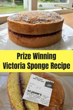 Recipe: My Prize Winning Victoria Sponge Cake Here's my for my which won FIRST PRIZE at the village show. It's a fantastic, fail safe recipe which turns out perfect cakes every time! I've also included the WI rule for succes Victoria Sponge Recipe, Victoria Sponge Cake, Victoria Cakes, Baking Recipes, Dessert Recipes, Desserts, Cake Recipes Uk, Pear And Chocolate Cake, Victoria Sandwich Cake