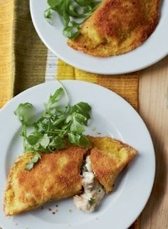 Low FODMAP Recipe and Gluten Free Recipe - Crispy pancakes with chicken & bacon - www.ibs-health.co...
