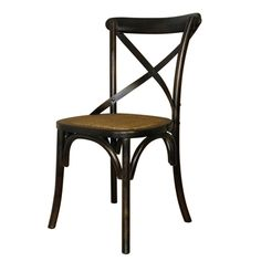 This is Ningbo's Cambridge #Restaurant Chair and features a rather attractive and quirky #design on the backing of the #chair. The seat itself is made of rattan.