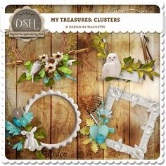My treasures Clusters (pu/s4h) by Maguette : DSH: Digital Scrapbooking Hill - high quality CU and PU elements, exclusive products, kits, freebies and more...