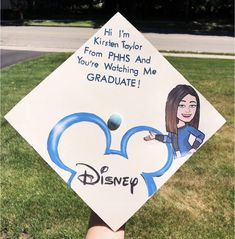 Struggling to figure out how to decorate a graduation cap? Get some inspiration from one of these clever DIY graduation cap ideas in These high school and college graduation cap decorations won't disappoint! Funny Graduation Caps, Graduation Cap Designs, Graduation Cap Decoration, Graduation Diy, Graduation Pictures, Funny Grad Cap Ideas, Decorated Graduation Caps, Disney Graduation Cap, High School Graduation