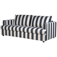 Stripy Sofa in Black and Cream (€840) ❤ liked on Polyvore featuring home, furniture, sofas, sofa, ivory couch, modern contemporary furniture, beige couch, modern contemporary sofa and cream colored sofa