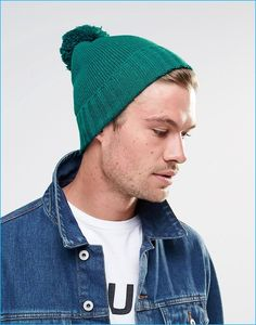 c95ab7d18ba ASOS Men s Green Bobble Beanie Guys In Beanies