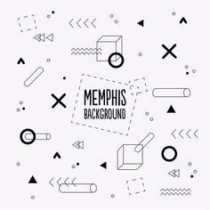 Memphis background with geometric shapes Vector. Choose from thousands of free vectors, clip art designs, icons, and illustrations created by artists worldwide! Powerpoint Background Templates, Memphis Pattern, Typo Logo, Typography, Design Theory, Memphis Design, Design Graphique, Seamless Background, Photoshop Design