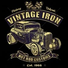 Wholesale T-Shirts, Classic Car T Shirts - 16181-11x13-vintage-iron-hot-rod-customs