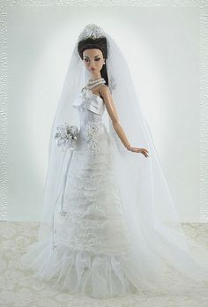 barbie doll wedding gowns #1 by Gwendolyns Treasures, via Flickr...1...2 ..1..2. qw2