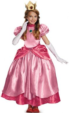 New costumes for 2014 - Prestige Princess Peach Super Mario Brothers Girl's Costume Dress Up Day, Dress Up Outfits, Dress Up Costumes, Girl Costumes, Dresses, Movie Costumes, Princess Peach Costume, Princess Costumes, Costume Craze