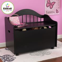 The Kidkraft Limited Edition Toy Chest keeps rooms tidy with style. This chest would be a great addition to any kid's room. Convenient storage Doubles as a bench for extra seating Flip-top lid has saf