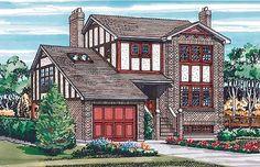 - 88215SH | European, Tudor, Narrow Lot, 2nd Floor Master Suite, Bonus Room, PDF, Unlimited Build License | Architectural Designs