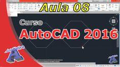 Curso de AutoCAD 2016 – Comandos de Desenho Parte 1 – Aula 08 – Autocria... Autocad 2016, Classroom