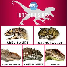 Jurassic worlds Indominus Rex - The dinosaurs above are all hybridized into the I-Rex.