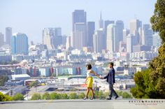 San Francisco city view engagement session by Braja Mandala Photography