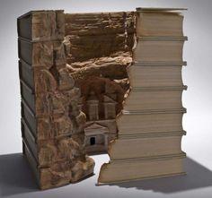 Guy Laramee - book carving artist