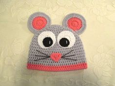 Hey, I found this really awesome Etsy listing at https://www.etsy.com/listing/91802599/miss-mouse-crocheted-hat-photo-prop