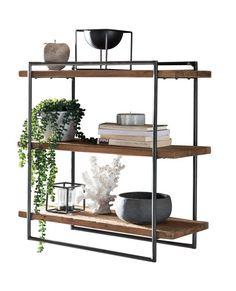 Newell Wall Shelf Alpen Home Display Shelves, Wall Shelves, Loft Furniture, Wood Bar Stools, Industrial Shelving, Wood Cabinets, Cool Walls, Diy Wall, Floating Shelves
