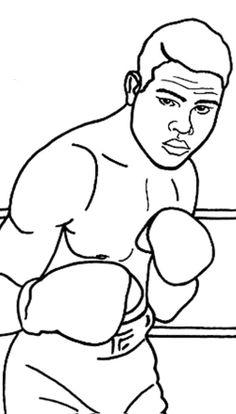 Boxer Sport Coloring Pasge