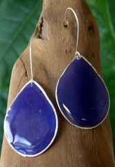 Beautiful purple teardrop earrings. Stunning color... Click this pin to see more wonderful designers and great products for home, children, men and women.