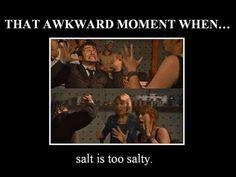 I hate salt...