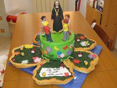 #Cakedesign: #torta con #suora e #bambini