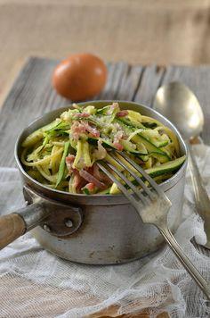 Spaghetti de courgette à la carbonara