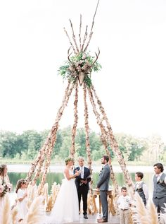 Romantic Boho Midwest Wedding