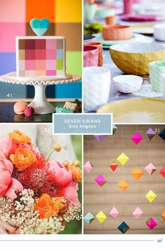 Some brights!   Seven Swans Sea Glass Wedding, Seven Swans, Swan Love, Wedding Stationery, Summertime, Wedding Inspiration, Party Ideas, Colours, Bright