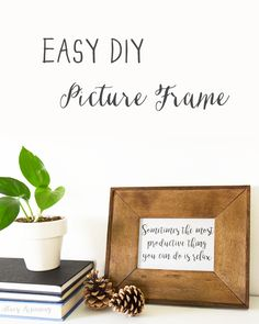 easy diy picture fra