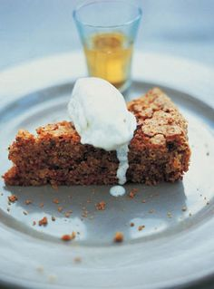My surprise pudding is actually beetroot cake; it is marvellous and served with a beautiful boozy vanilla crème fraîche Brownie Recipes, Cake Recipes, Dessert Recipes, Duck Recipes, Dessert Ideas, Vegan Recipes, Carrot Spice Cake, Pudding Desserts, Pudding Cake