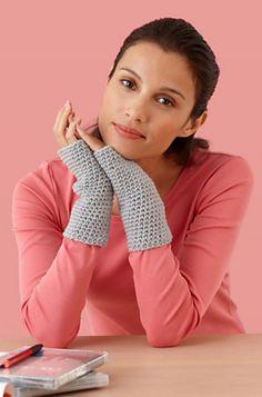 Free Pattern  Ravelry: Easy Crocheted Wristers #L10158 pattern by Lion Brand Yarn