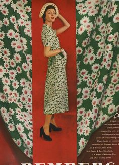 In my post here , I spoke about a bound volume of Vogue that I have from 1949. I do have others so look to the future for more great fashi...