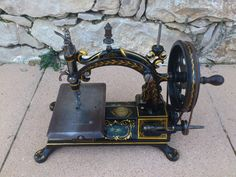 Me and my husband recently acquire this magnificent sewing machine named HURTU made in france. Antique Sewing Machines, Sewing Toys, Sewing Accessories, Drawing Room, Irons, Pin Cushions, Husband, France, Antiques