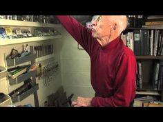 Don Allen Nose Art Artist being interviewed as part of Nose Art and Pin Ups film