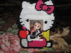 Hello Kitty cross stitch photo frame