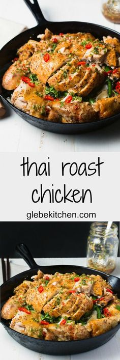 Thai roast chicken combines the classic sweet, sour, salty and spicy flavours of Southeast Asia in a delicious chicken dinner.