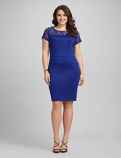 Plus Size Lace Top Sheath Dress | Dressbarn