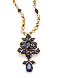 Oscar de la Renta Jeweled Convertible Brooch  Pendant Necklace