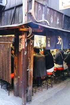 Kabuto Yakitori restaurant on Omoide Yokacho (Memory Lane) in Shinjuku, Tokyo, Japan. Japanese Bar, Japanese Culture, Japanese Store, Japanese Castle, Shinjuku Tokyo, Tokyo Japan, Strange Weather, Japanese Architecture, Japanese Buildings