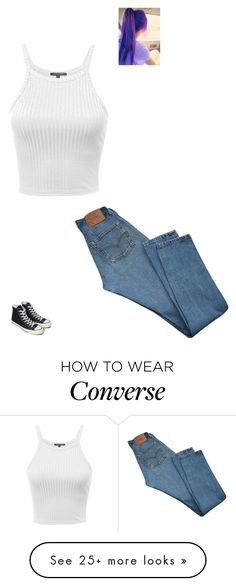 """""""Meeting Aki Again"""" by maryvarleyrox on Polyvore featuring Levi's and Converse"""