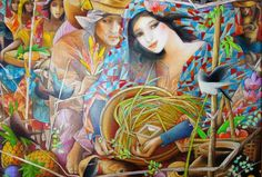 """Tam Austria """"Courting A Maiden"""" Filipino Art, Filipino Culture, Philippine Art, She Walks In Beauty, Art Pictures, Art Pics, Photos, Cubism, New Artists"""