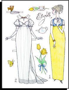 "Jane Austen ""Elizabeth"" (Pride and Prejudice) paper doll"