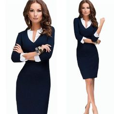 modelos de vestidos para oficina 2015 - Buscar con Google