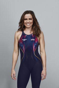 Natalie Coughlin models new swim wear for 2016 Olympic team