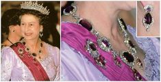 From Her Majesty's Jewel Vault: The Kent Amethyst Demi-Parure. The set was owned by Queen Victoria's mother, the Duchess of Kent, who left it to her daughter. Queen Victoria subsequently left the set to the Crown.