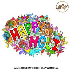 'Bright colors, water balloons, lavish gujiyas and melodious songs' are the ingredients of perfect Holi. Wish you a very happy and wonderful Holi. Water Balloons, Holi, Entertaining, Songs, Bright Colors, Happy, Bollywood, Bright Colours, Vivid Colors