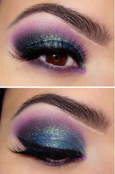 """Holiday Lights"" Smokey Eye"