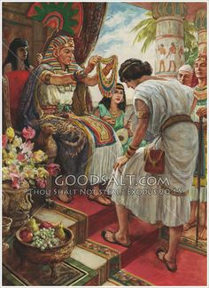 Joseph in Egypt Genesis 41 Bible Photos, Bible Pictures, Jesus Pictures, Christian Artwork, Christian Pictures, Lds Art, Bible Art, Religious Pictures, Religious Art